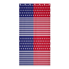 American Flag Patriot Red White Shower Curtain 36  X 72  (stall)  by Celenk