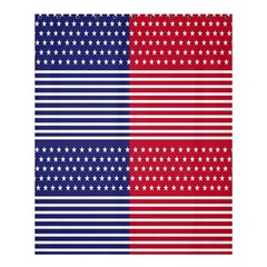 American Flag Patriot Red White Shower Curtain 60  X 72  (medium)  by Celenk