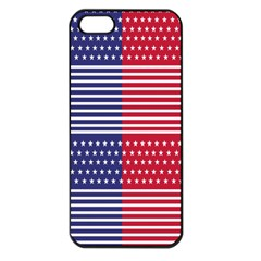 American Flag Patriot Red White Apple Iphone 5 Seamless Case (black) by Celenk