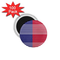 American Flag Patriot Red White 1 75  Magnets (100 Pack)