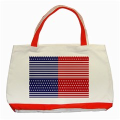 American Flag Patriot Red White Classic Tote Bag (red) by Celenk