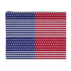 American Flag Patriot Red White Cosmetic Bag (xl)