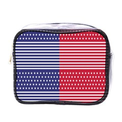 American Flag Patriot Red White Mini Toiletries Bags by Celenk