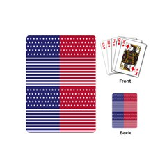 American Flag Patriot Red White Playing Cards (mini)