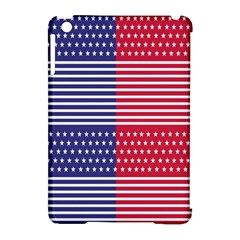 American Flag Patriot Red White Apple Ipad Mini Hardshell Case (compatible With Smart Cover)