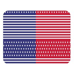 American Flag Patriot Red White Double Sided Flano Blanket (large)  by Celenk