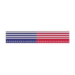 American Flag Patriot Red White Flano Scarf (mini) by Celenk
