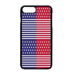 American Flag Patriot Red White Apple Iphone 7 Plus Seamless Case (black) by Celenk