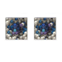Cube Cubic Design 3d Shape Square Cufflinks (square) by Celenk
