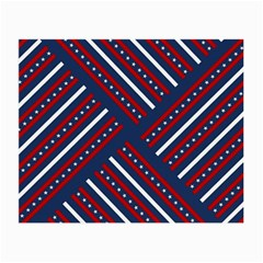 Patriotic Red White Blue Stars Small Glasses Cloth by Celenk