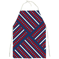 Patriotic Red White Blue Stars Full Print Aprons by Celenk