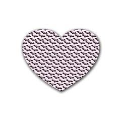 Halloween Lilac Paper Pattern Rubber Coaster (heart)  by Celenk