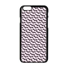 Halloween Lilac Paper Pattern Apple Iphone 6/6s Black Enamel Case by Celenk