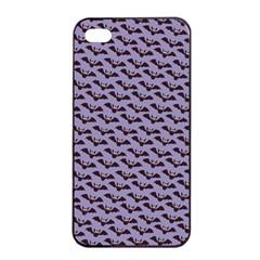 Bat Halloween Lilac Paper Pattern Apple Iphone 4/4s Seamless Case (black) by Celenk