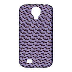 Bat Halloween Lilac Paper Pattern Samsung Galaxy S4 Classic Hardshell Case (pc+silicone) by Celenk