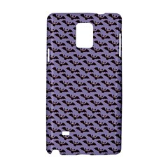 Bat Halloween Lilac Paper Pattern Samsung Galaxy Note 4 Hardshell Case by Celenk