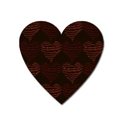 Heart Seamless Background Figure Heart Magnet by Celenk
