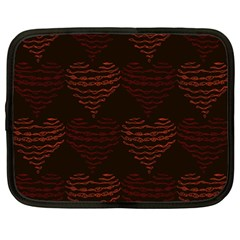 Heart Seamless Background Figure Netbook Case (xxl)  by Celenk