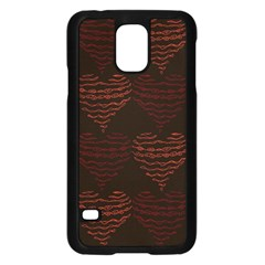 Heart Seamless Background Figure Samsung Galaxy S5 Case (black)