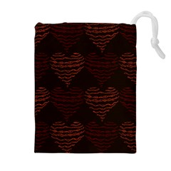 Heart Seamless Background Figure Drawstring Pouches (extra Large) by Celenk