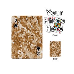 Texture Background Backdrop Brown Playing Cards 54 (mini)  by Celenk