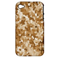 Texture Background Backdrop Brown Apple Iphone 4/4s Hardshell Case (pc+silicone) by Celenk