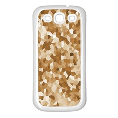 Texture Background Backdrop Brown Samsung Galaxy S3 Back Case (white) by Celenk