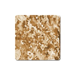 Texture Background Backdrop Brown Square Magnet by Celenk