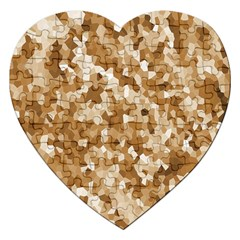 Texture Background Backdrop Brown Jigsaw Puzzle (heart) by Celenk