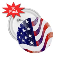 Usa Flag America American 2 25  Buttons (10 Pack)  by Celenk