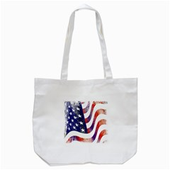 Usa Flag America American Tote Bag (white) by Celenk