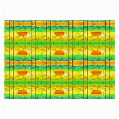 Birds Beach Sun Abstract Pattern Large Glasses Cloth by Celenk