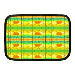Birds Beach Sun Abstract Pattern Netbook Case (medium)  by Celenk