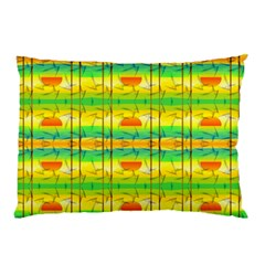 Birds Beach Sun Abstract Pattern Pillow Case (two Sides) by Celenk