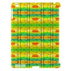 Birds Beach Sun Abstract Pattern Apple Ipad 3/4 Hardshell Case (compatible With Smart Cover) by Celenk