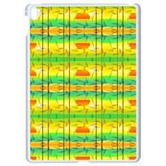 Birds Beach Sun Abstract Pattern Apple Ipad Pro 9 7   White Seamless Case by Celenk