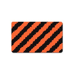 Black Orange Pattern Magnet (name Card) by Celenk