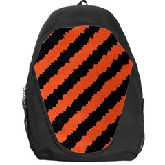 Black Orange Pattern Backpack Bag by Celenk