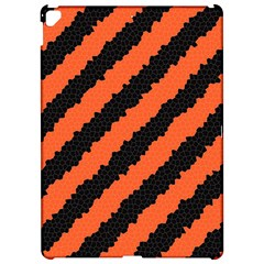 Black Orange Pattern Apple Ipad Pro 12 9   Hardshell Case by Celenk