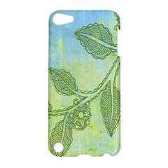 Green Leaves Background Scrapbook Apple Ipod Touch 5 Hardshell Case by Celenk