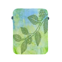 Green Leaves Background Scrapbook Apple Ipad 2/3/4 Protective Soft Cases by Celenk
