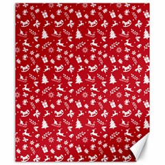 Red Christmas Pattern Canvas 20  X 24   by patternstudio