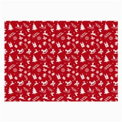 Red Christmas Pattern Large Glasses Cloth