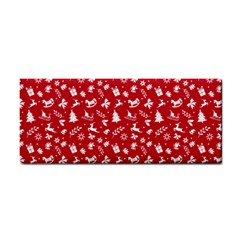 Red Christmas Pattern Cosmetic Storage Cases by patternstudio