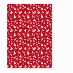 Red Christmas Pattern Large Garden Flag (two Sides) by patternstudio