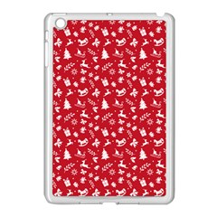 Red Christmas Pattern Apple Ipad Mini Case (white) by patternstudio
