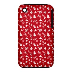 Red Christmas Pattern Iphone 3s/3gs by patternstudio
