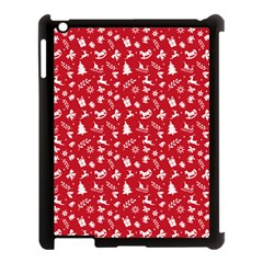 Red Christmas Pattern Apple Ipad 3/4 Case (black) by patternstudio