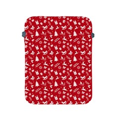 Red Christmas Pattern Apple Ipad 2/3/4 Protective Soft Cases by patternstudio