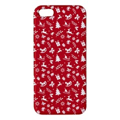 Red Christmas Pattern Iphone 5s/ Se Premium Hardshell Case by patternstudio